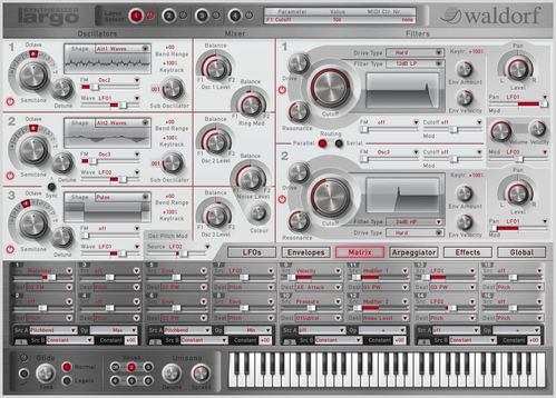 Waldorf Largo, synthesizer software