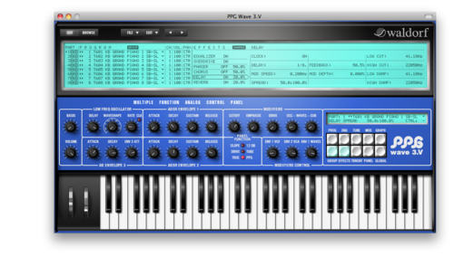 Waldorf PPG Wave 3.V, synthesizer software