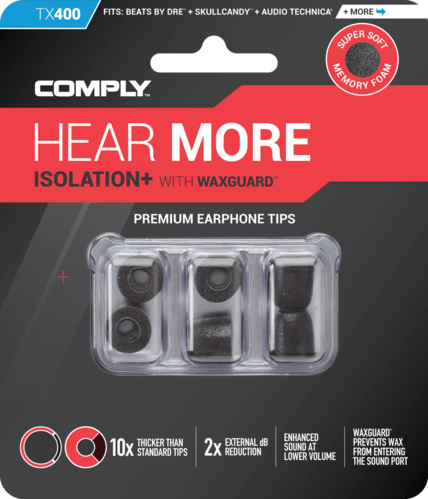 Comply TX-400 mixed black, ear tips, mixed size, black, 3 paar