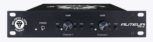 Black Lion Audio Auteur MKII, Twin-Channel Microphone Preamp